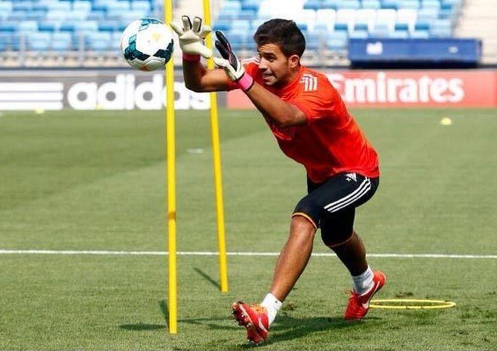 Foto: Fernando Pacheco, durante un entrenamiento con el Real Madrid (Twitter @92Pacheco)