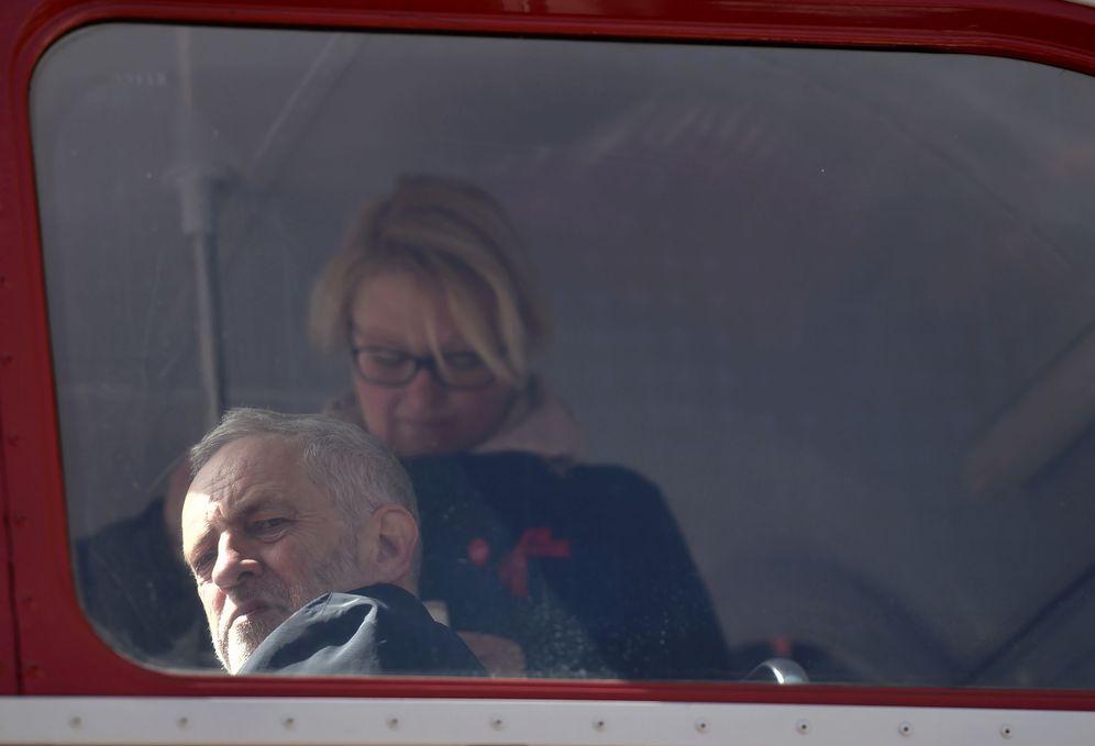 Foto: Jeremy Corbyn, momentos antes de dar un discurso durante el Primero de Mayo en Londres (Reuters)