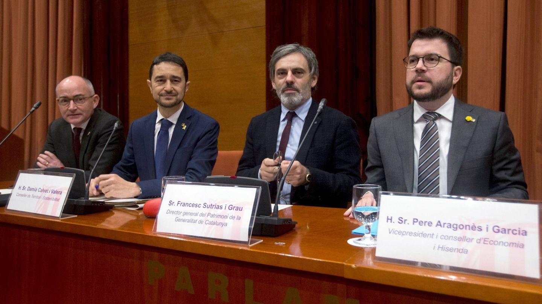 Francesc Sutrias, el segundo por la derecha. (EFE)