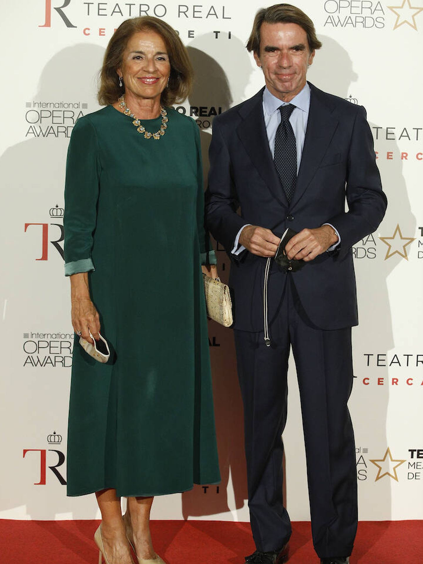 Ana Botella y José María Aznar. (LP)