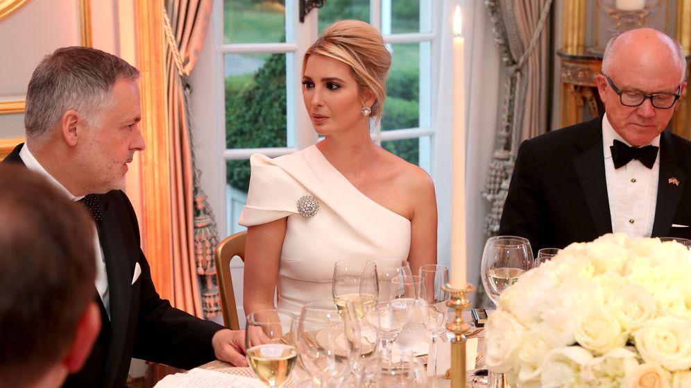 Foto: Ivanka Trump, guapísima en la cena en la embajada. (Reuters)