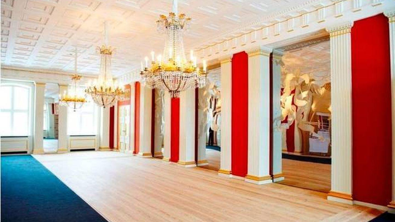 Comedor del complejo de Amalienborg. (Tariq Mikkel Khan/Casa Real)