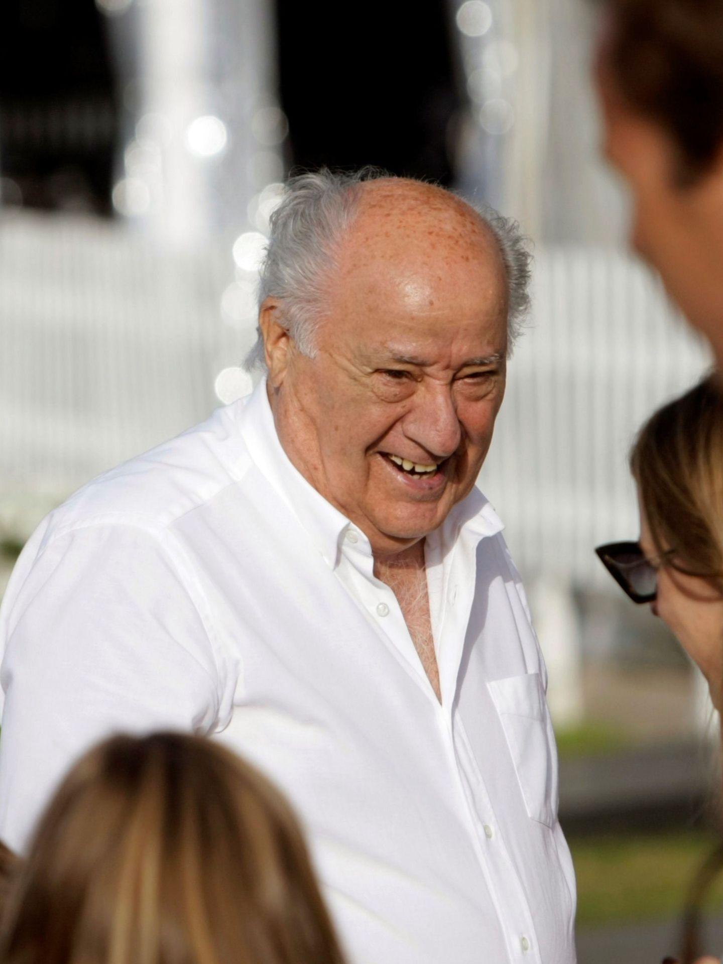 Amancio Ortega, a su llegada a la trigésimo octava edición del Concurso Internacional de Saltos de Casas Novas. (EFE)
