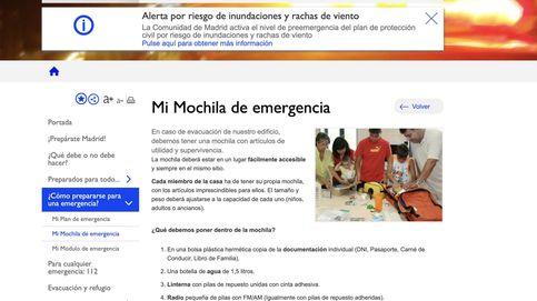 'Mi mochila de emergencias' (consejos de supervivencia para madrileños)