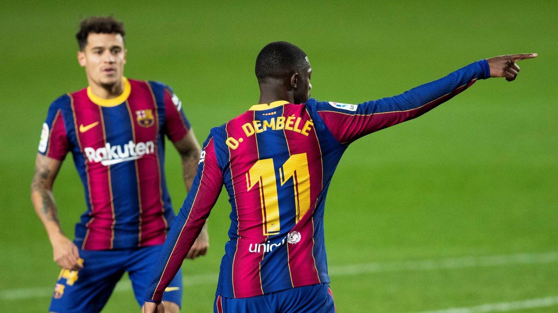 Dembelé y Coutinho, en una imagen reciente. (EFE)