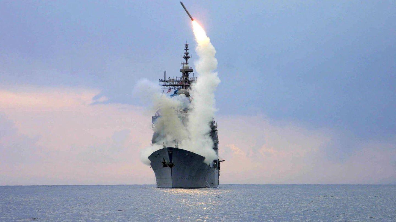 Misil Tomahawk lanzado desde un buque militar. (Foto: Reuters)
