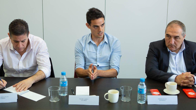 Rafael García-Plata (Alcandora), David Campoy (Ulabox) y Emilio Tovar (Telepizza).