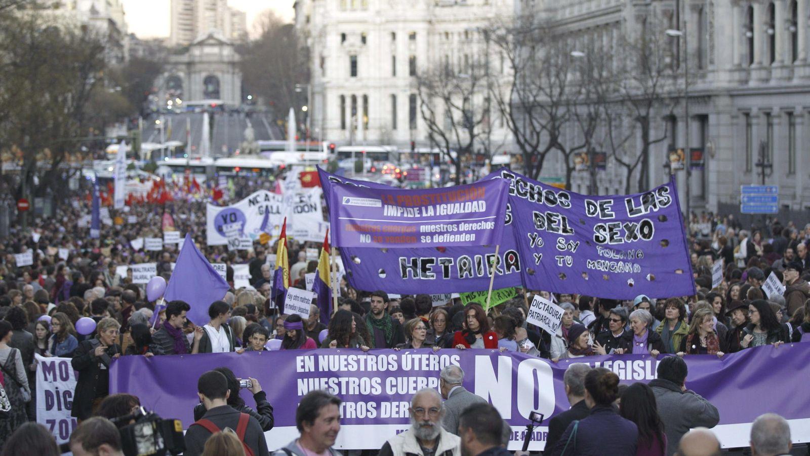 Foto: Manifestación que el movimiento feminista de Madrid convocó el pasado año coincidiendo con el Día Internacional de la Mujer. (EFE)
