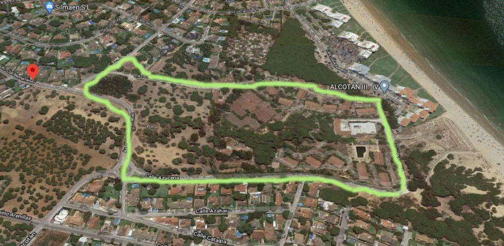 Foto: Vista aérea de los terrenos adquiridos por Acciona.