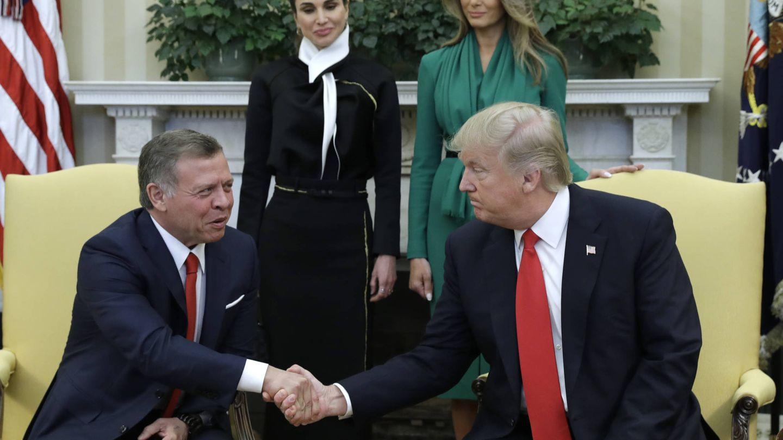 Los Trump, con los reyes jordanos, en la Casa Blanca. (Gtres)