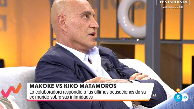 Matamoros criticando a Makoke. (Telecinco).