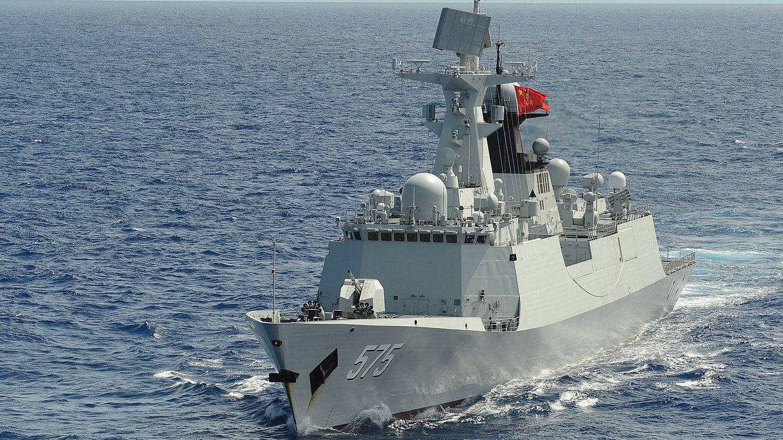 Fragata china Yueyang, durante los juegos militares. (US NAVY)