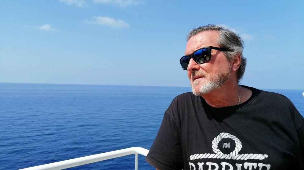 Foto: J.J. Benítez, en el crucero del que habla en su último libro.