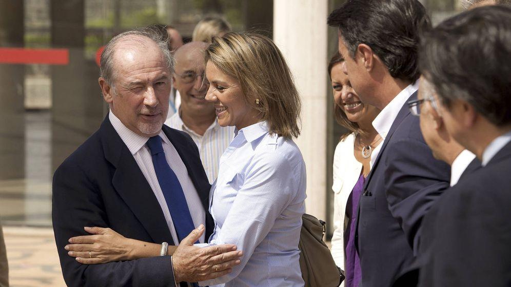 Foto: La secretaria General del Partido Popular, María Dolores de Cospedal y Rodrigo Rato. (Efe)