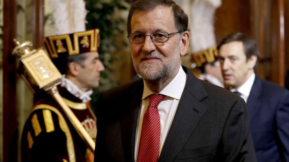 Foto:  El presidente del Gobierno, Mariano Rajoy, durante el acto. (EFE)