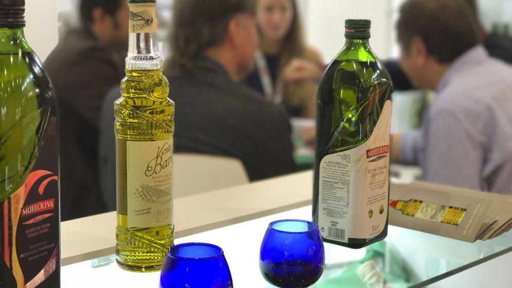 Foto: Aceites de la compañía Mueloliva en Moscú. (EFE)