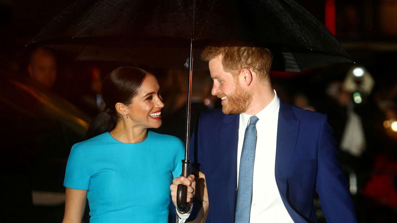 Meghan y Harry, en uno de sus últimos compromisos oficiales. (Reuters)