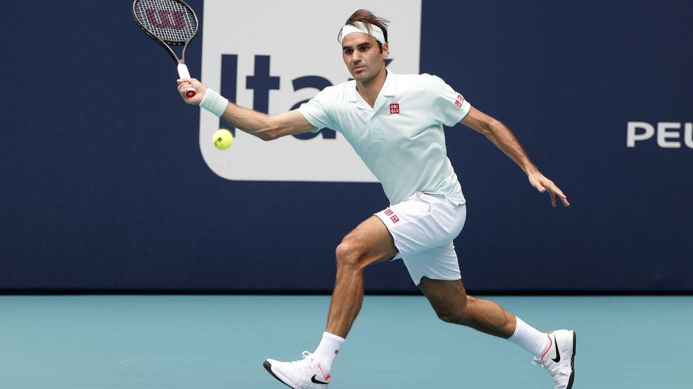 Foto: Federer en la final de Miami. (EFE)