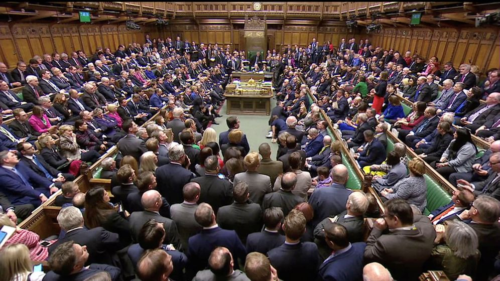 Foto: Imagen del Parlamento británico durante la votación del acuerdo del Brexit. (Reuters)