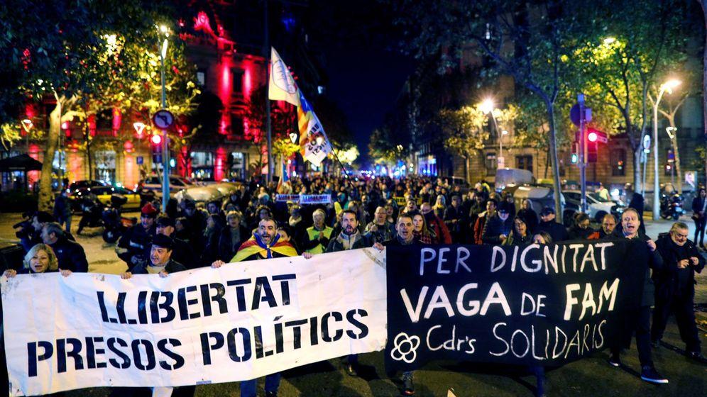Foto: Manifestación en apoyo a los independentistas presos. (EFE)