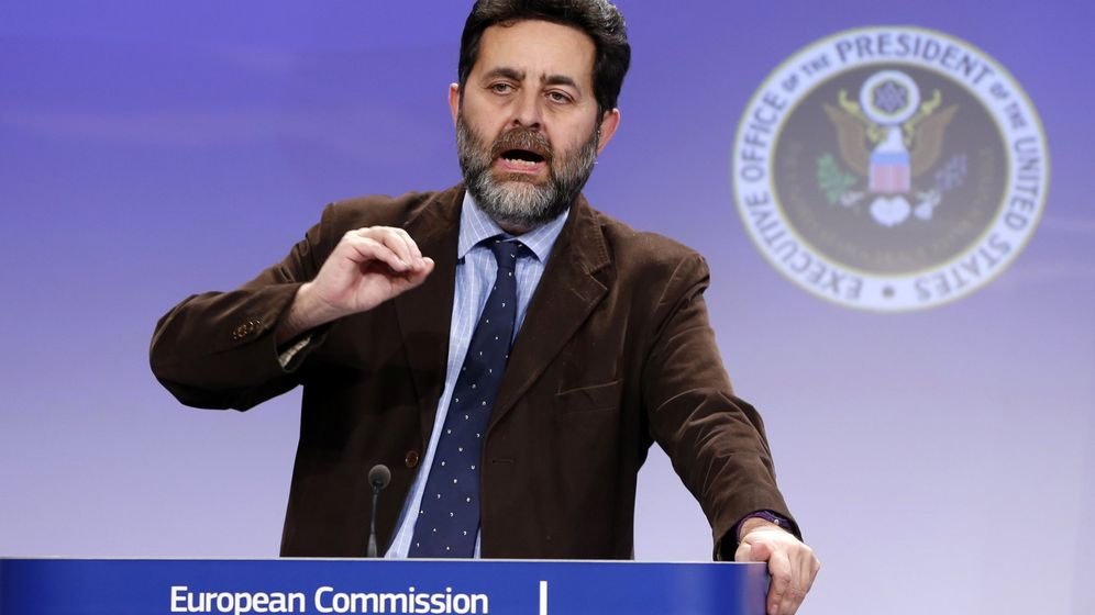 Foto: EU chief negotiator Bercero speaks as he holds a joint news conference with U.S. chief negotiator Mullaney in Brussels