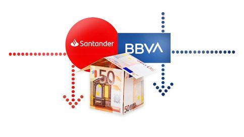 Santander y BBVA pierden cuota en un año récord en hipotecas y crédito al consumo