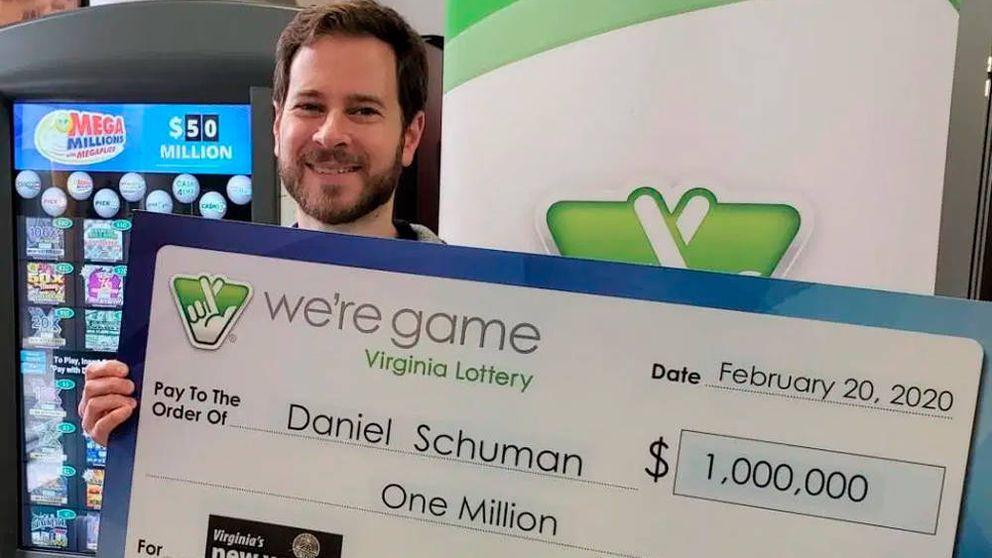 Un hombre que nunca juega a la lotería gana un millón en un sorteo