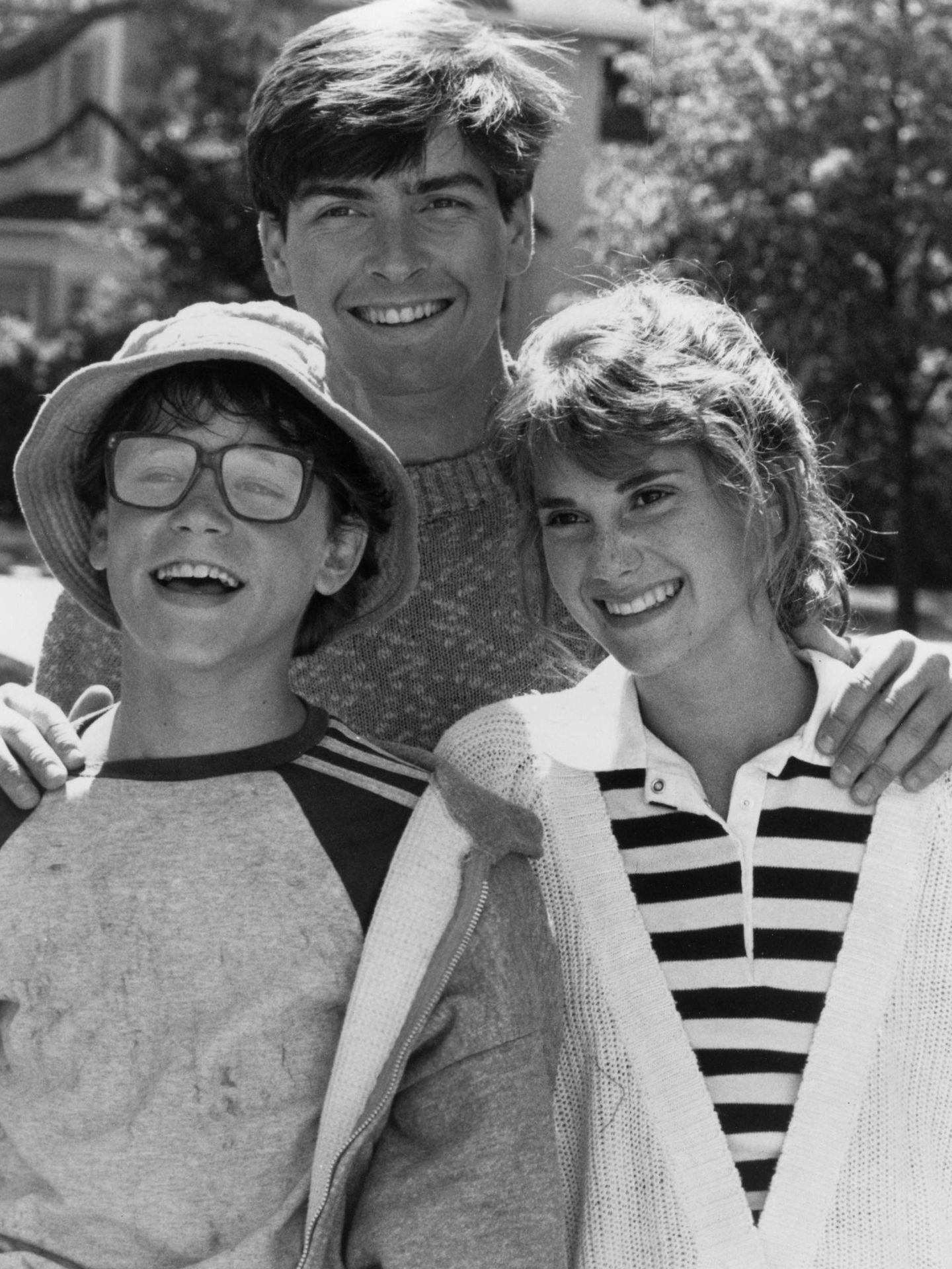 Haim y Sheen, durante el rodaje de 'Lucas' en 1986. (CP)