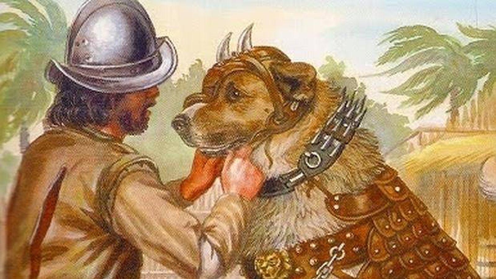 Resultado de imagen de perros en la conquista de america