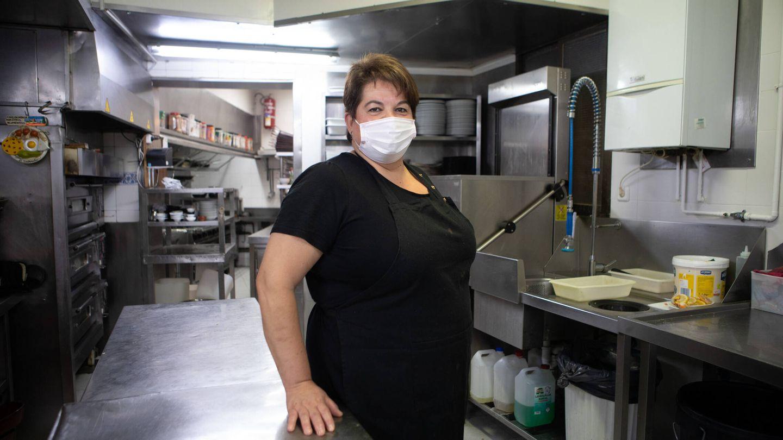 Maribel, tercera generación al frente del restaurante Los Arcos de Ponzano. (Isabel Blanco)