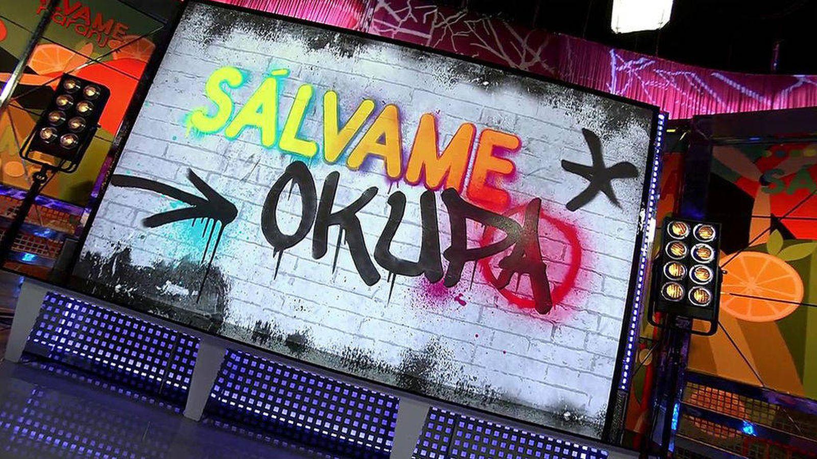 Foto: Logotipo del programa 'Sálvame Okupa'. (Mediaset)