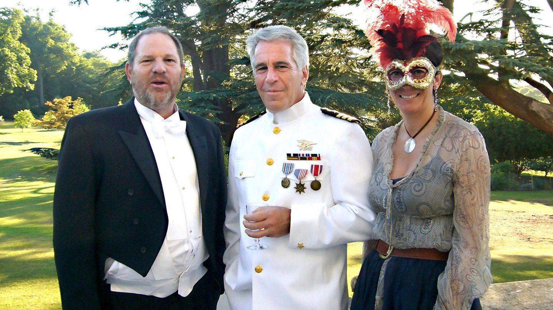 Harvey Weinstein, Jeffrey Epstein y Ghislaine Maxwell. (Netflix)