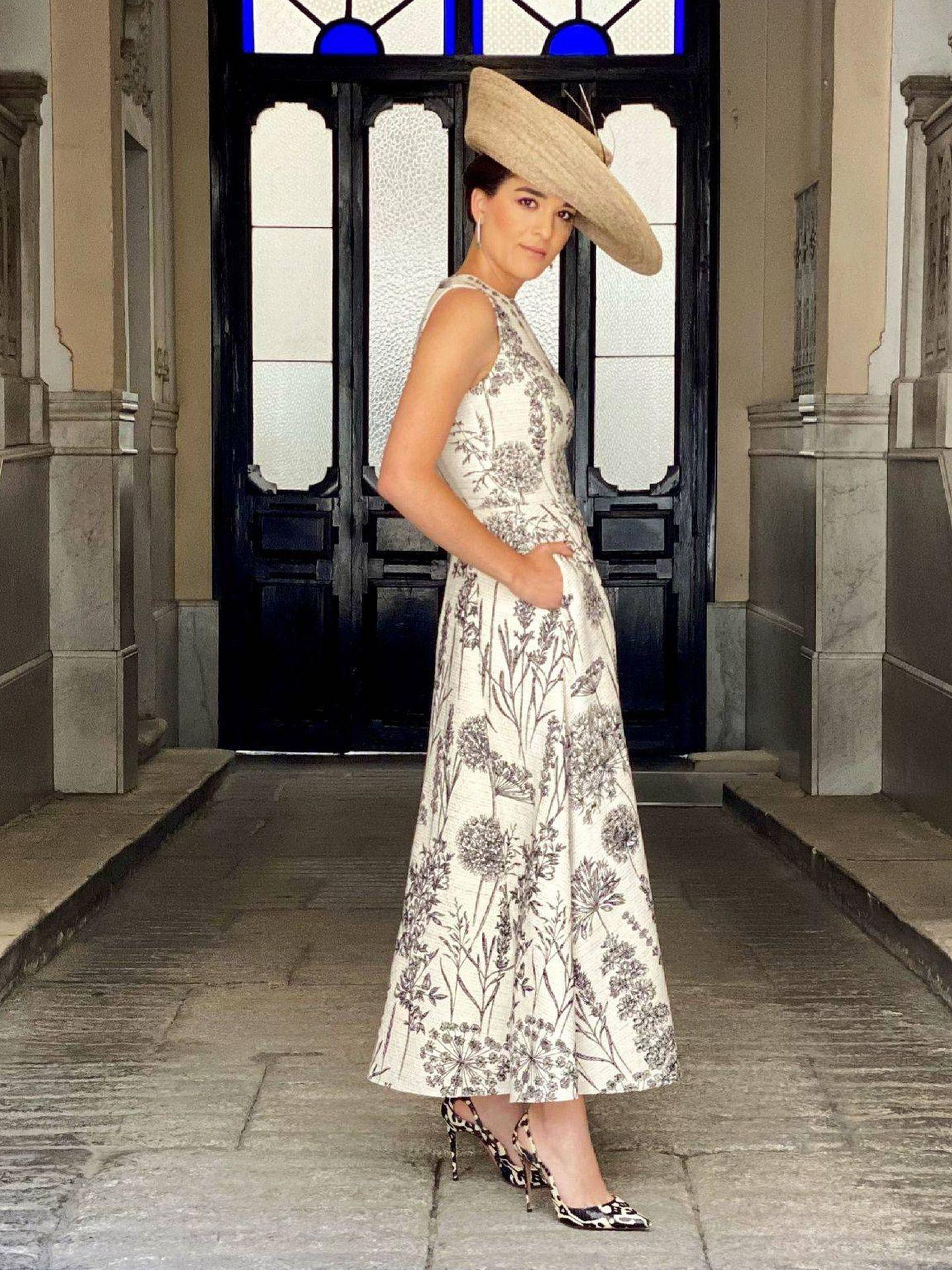 Bárbara Mirjan con su look de boda. (Jorge Vázquez)