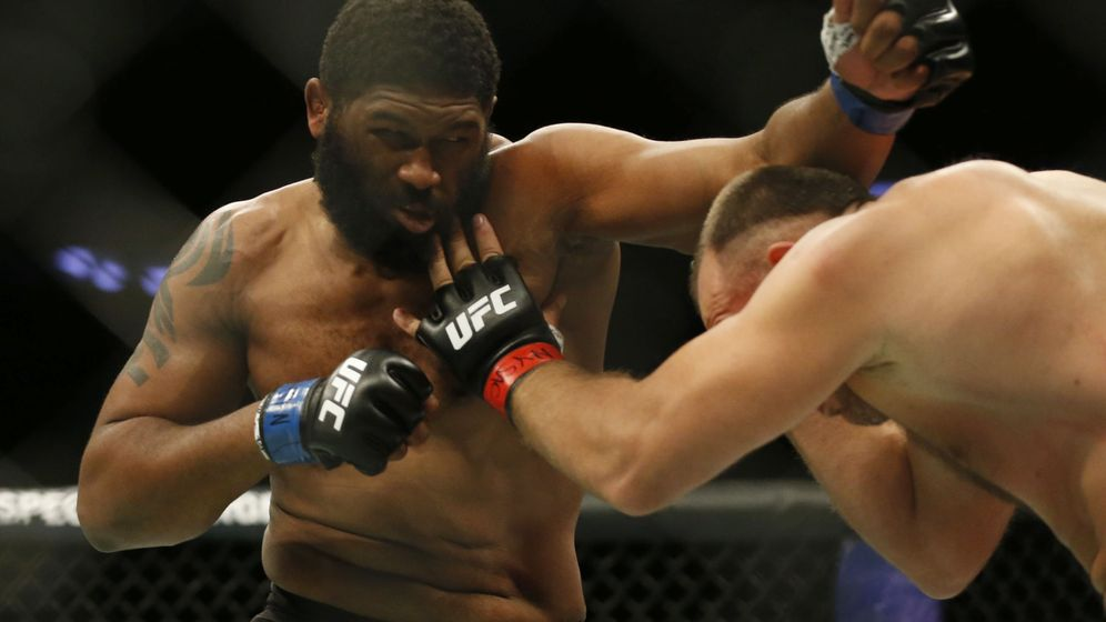 Foto: Curtis Blaydes en una pelea anterior. (USA TODAY Sports)