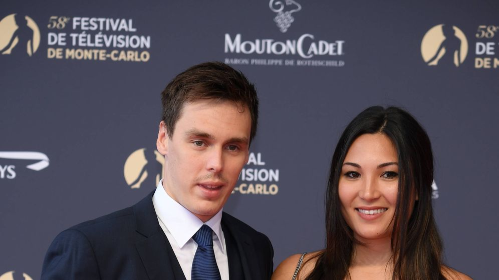 Foto:  Louis Ducruet y su novia, en el photocall. (Getty)