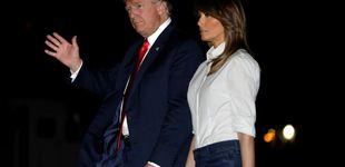 Post de Melania Trump y su maleta de más de 63.000 euros regresan en jeans a casa