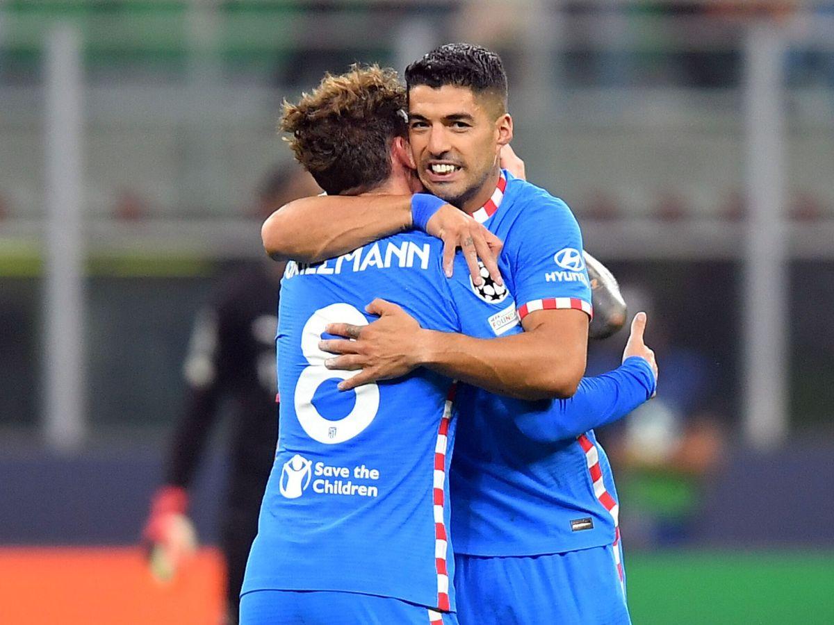 Foto: Griezmann y Luis Suárez, protagonistas del gol. (Reuters)