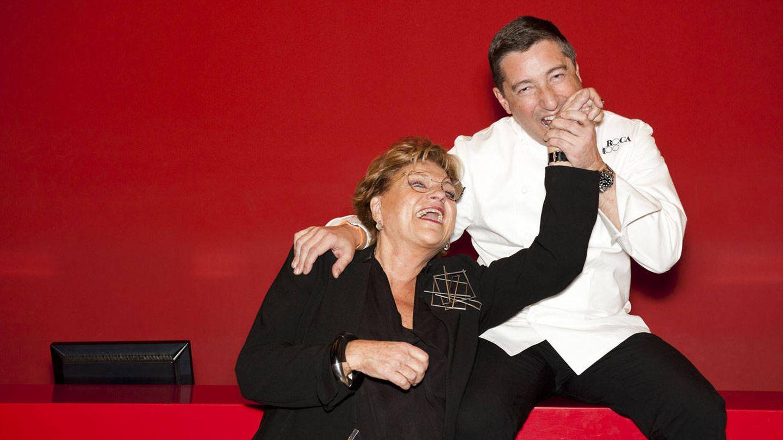 Rosa Esteva, con su amigo Joan Roca. (Cortesía)