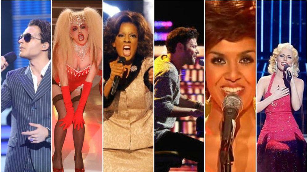 Foto: Algunos de los mejores concursantes de 'Tu cara me suena'. (Antena 3)