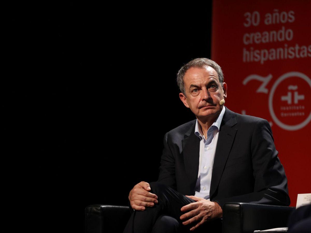 Foto: El expresidente José Luis Rodríguez Zapatero en la presentación de su libro. (EFE)