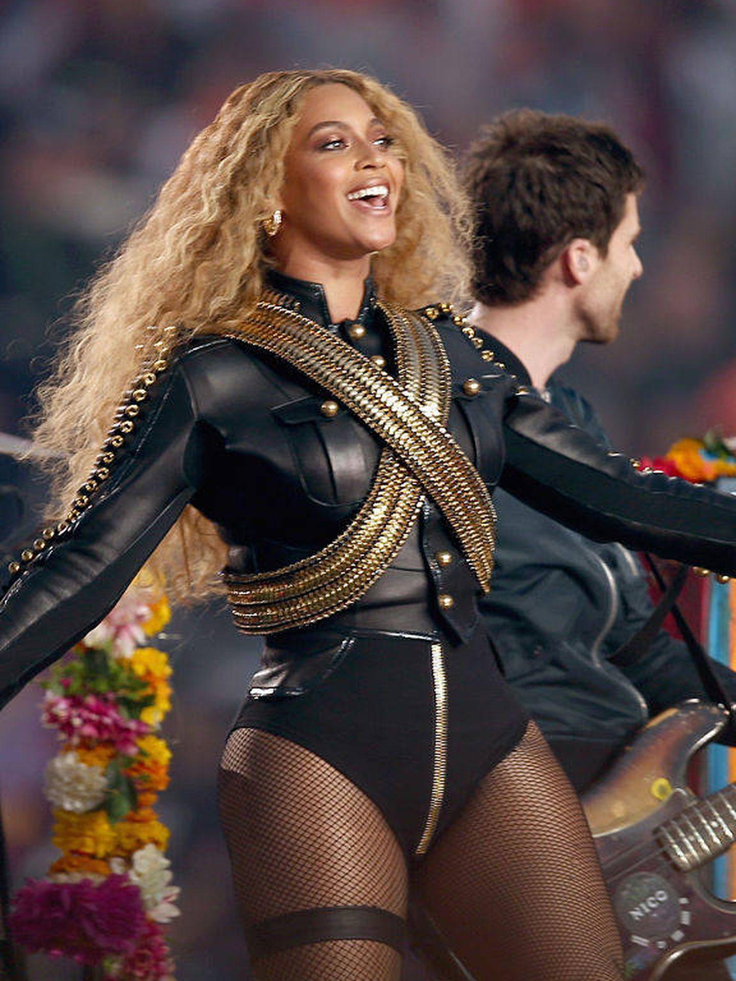 Beyoncé, en la Super Bowl. (Getty)