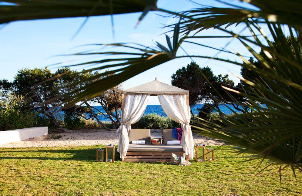 Foto: Una cama balinesa en el Gecko Beach Club de Formentera.