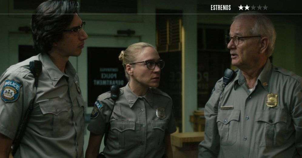 Foto: Adam Driver, Chloë Sevigny y Bill Murray, en 'Los muertos no mueren'. (Universal)
