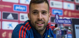 Post de Jordi Alba, un catalán eufórico con España y Sergio Ramos