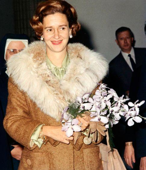 Foto: Fabiola de los belgas, en un acto religioso en 1965 (Cordon Press)