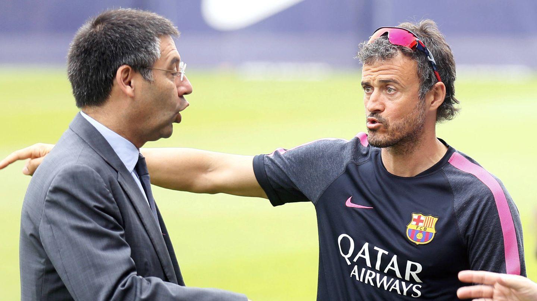En la imagen, Bartomeu junto a Luis Enrique (Reuters)