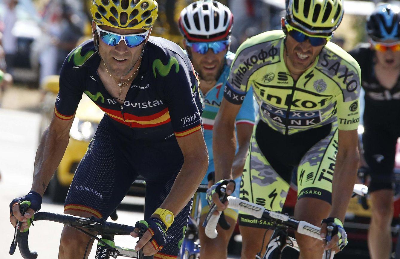 Foto: Valverde tiene a Contador como único adversario por el podio (Reuters).