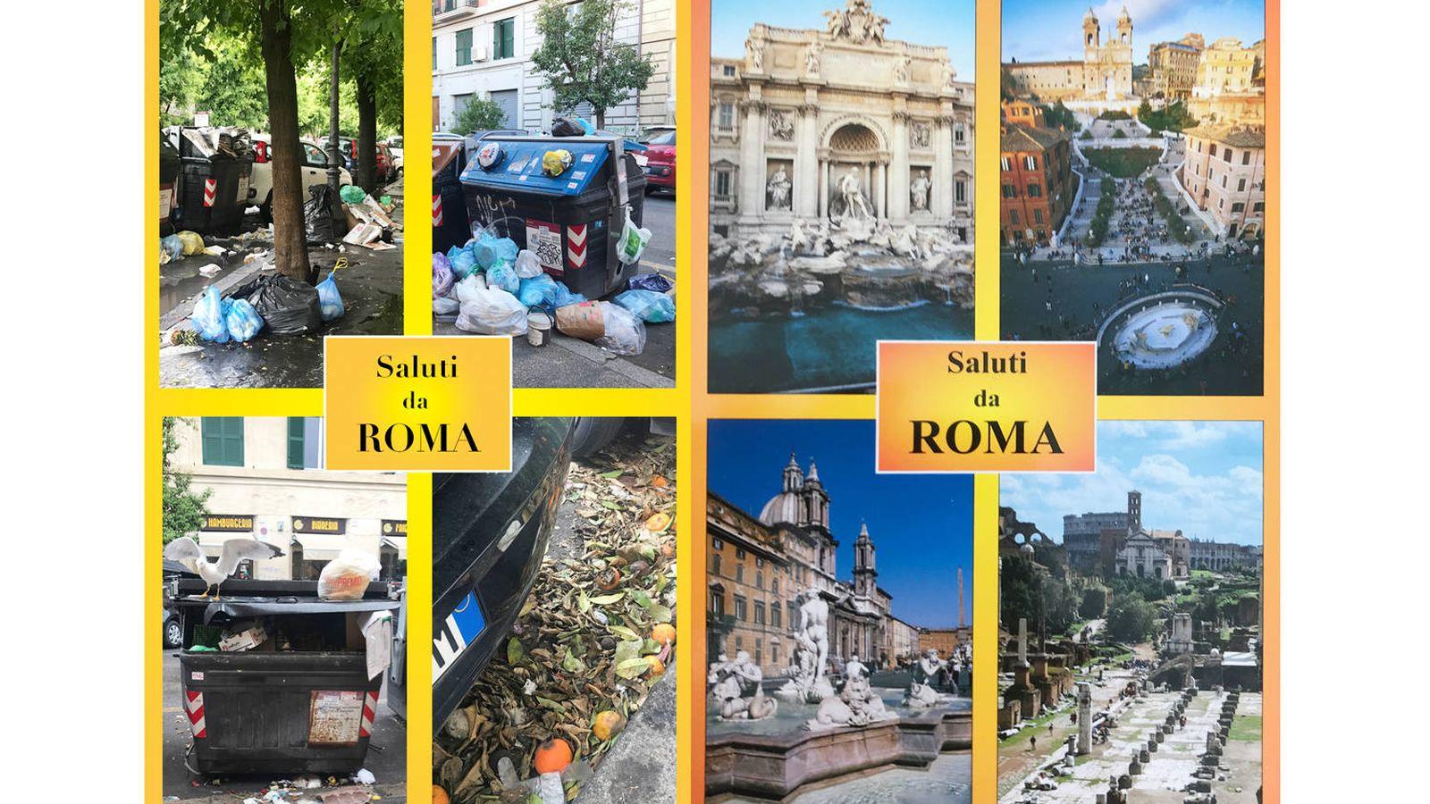 Foto: Due cartoline da Roma