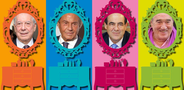 Foto: Vargas Llosa, Fernández, Bono y Tapias en un fotomontaje de 'Vanitatis'