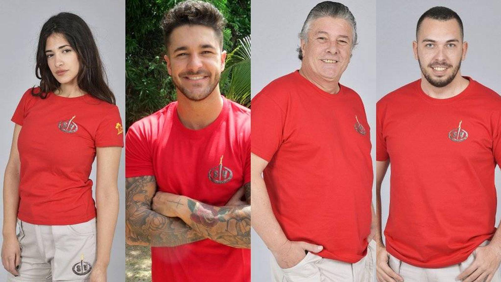 Foto: Los cuatro nuevos nominados de 'Supervivientes 218'. (Telecinco)